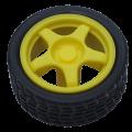 Yellow Gear Motor Wheel