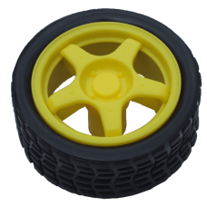 Yellow Gear Motor Wheel