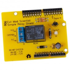 Evil Mad Science Simple Relay Arduino Shield Kit