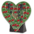 Flashing LED Sweetheart Beating Heart Electronic Kit