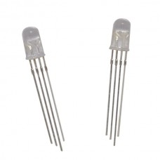 RGB LED Common Anode with 5mm Clear Lens (2 pack)