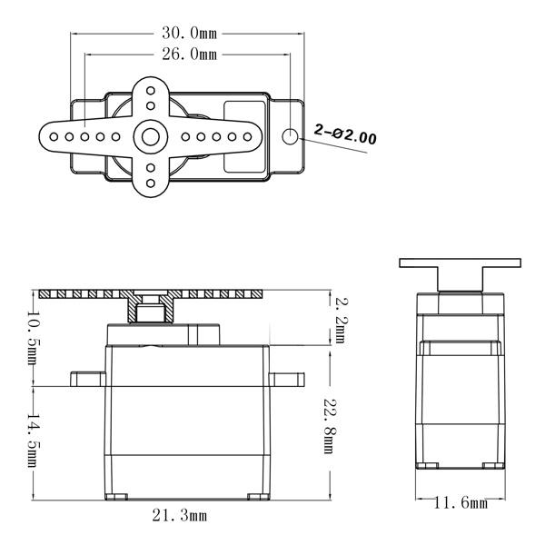 powerhd hd 1600a micro analog servo 6g. Black Bedroom Furniture Sets. Home Design Ideas