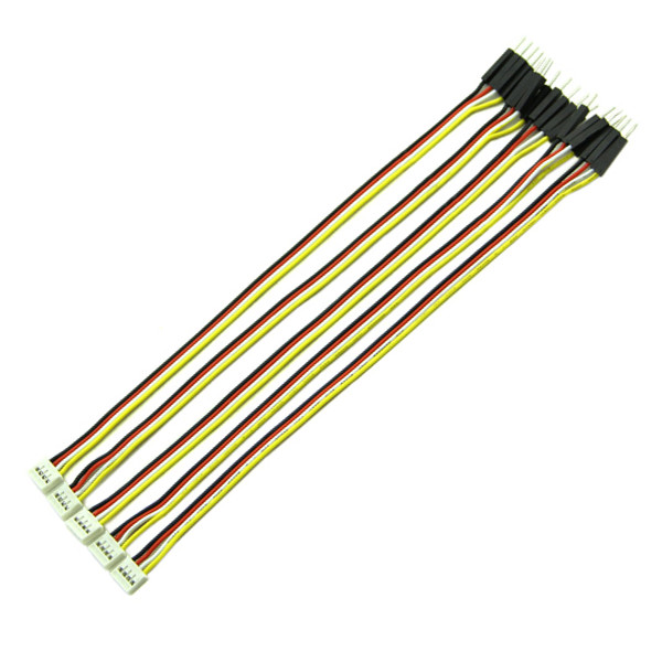 Grove 4 Pin Connector to Male Jumper Wire Cable 20cm (5 pack)