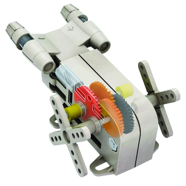 solar powered gearbox motor kit
