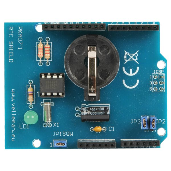 Velleman rtc real time clock shield for arduino electronic kit