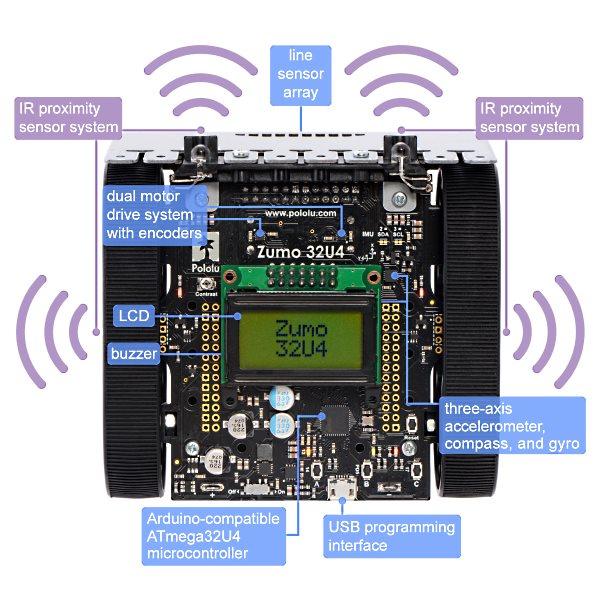 Zumo u arduino compatible tracked robot